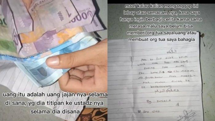 VIRAL Santri Beri Amplop Berisi Uang Rp 200 Ribu pada Ibu setelah Tahu Kondisi Ekonomi Keluarga